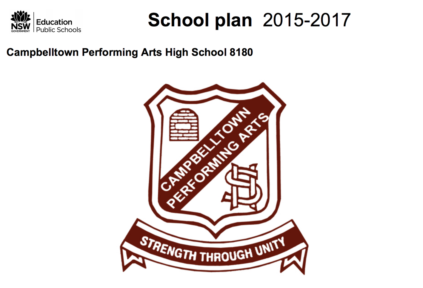 School Plan front cover