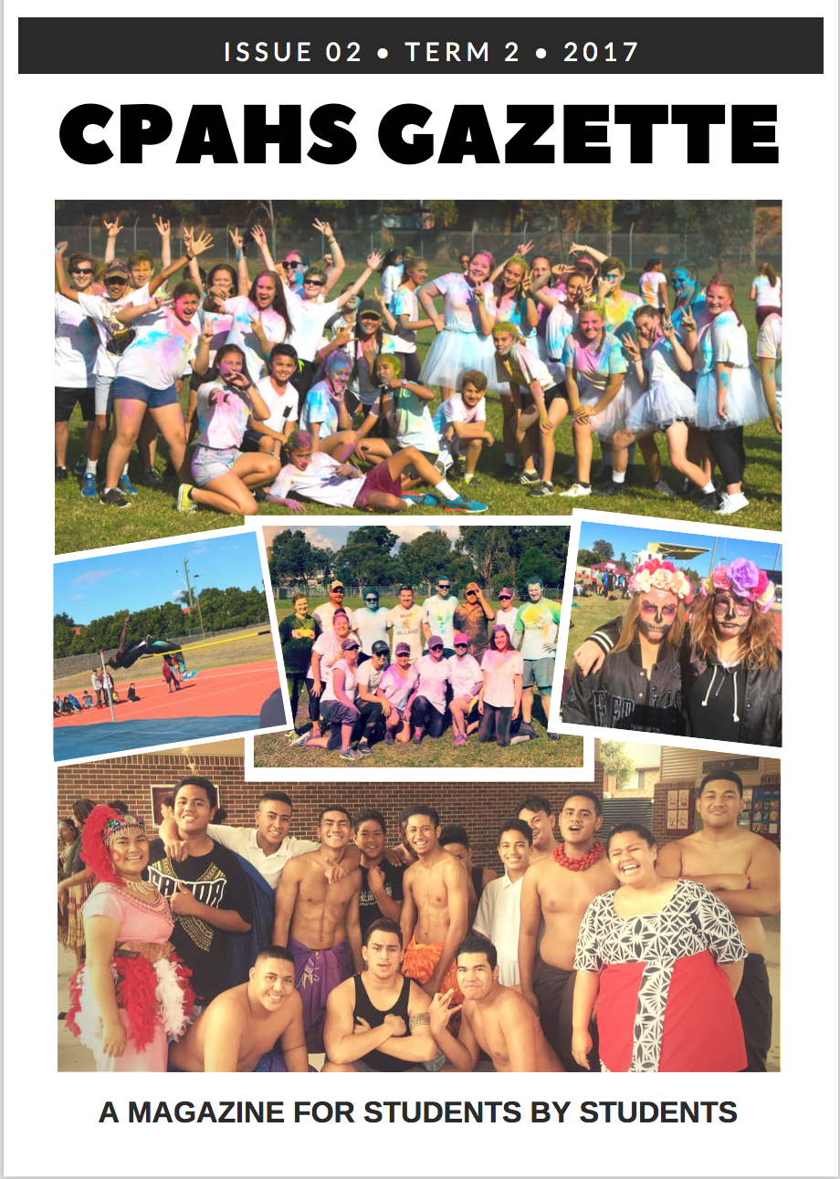 Student magazine cover - students enjoying extra curricular events
