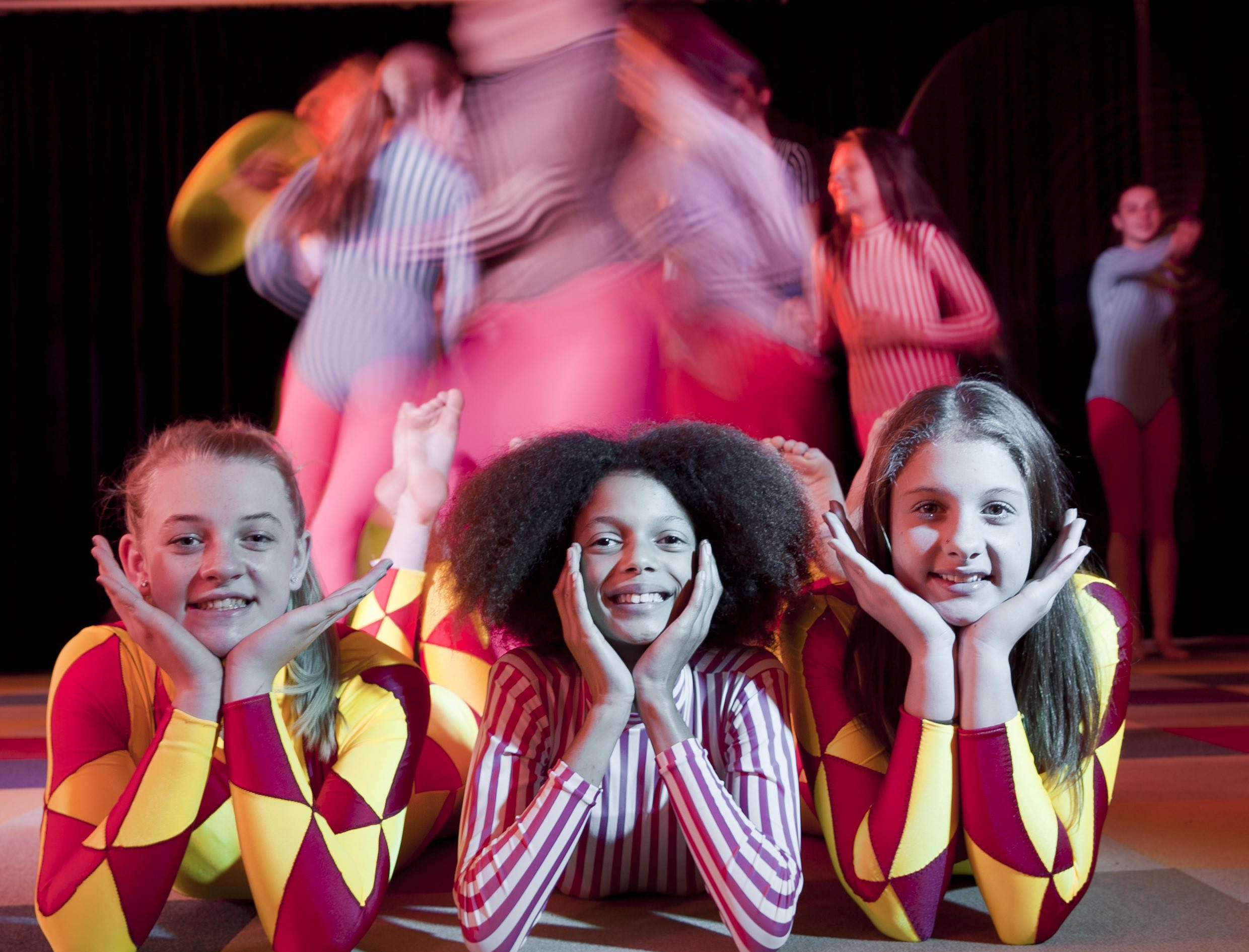 Students in circus class